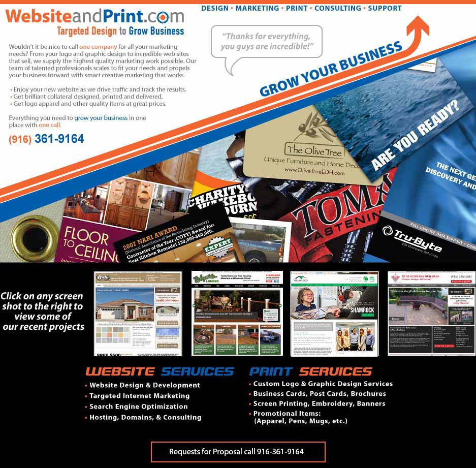 Sacramento Website and Graphic Design Specialists